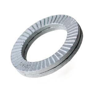 WNORD12 12mm Metric Nord Lock Washers Two Wedge Zinc Flake